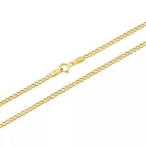 "Jewelry - SOLID GOLD 18"" Cuban Link Chain Brand New REAL"